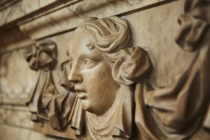 Detail from marble fire surround