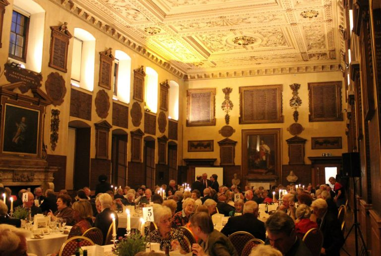 The Friends meet over dinner in the Great Hall