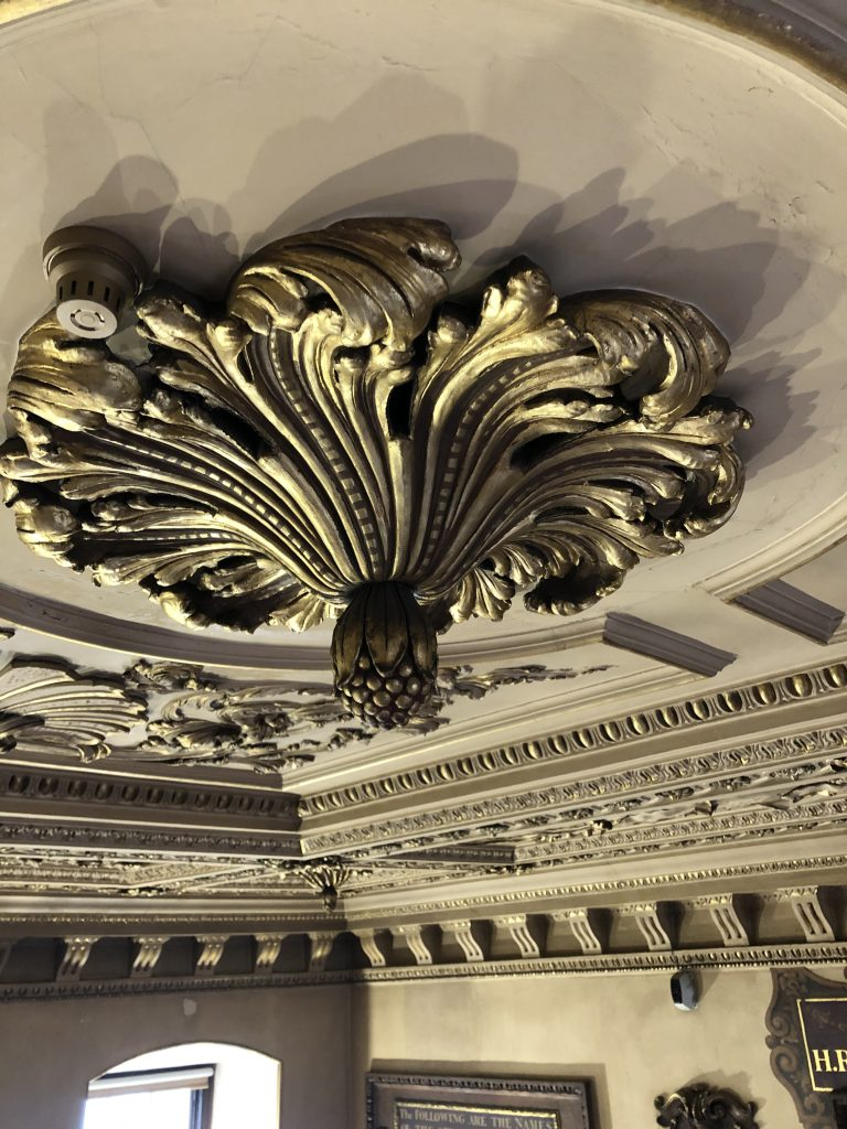 Detail of ceiling stucco