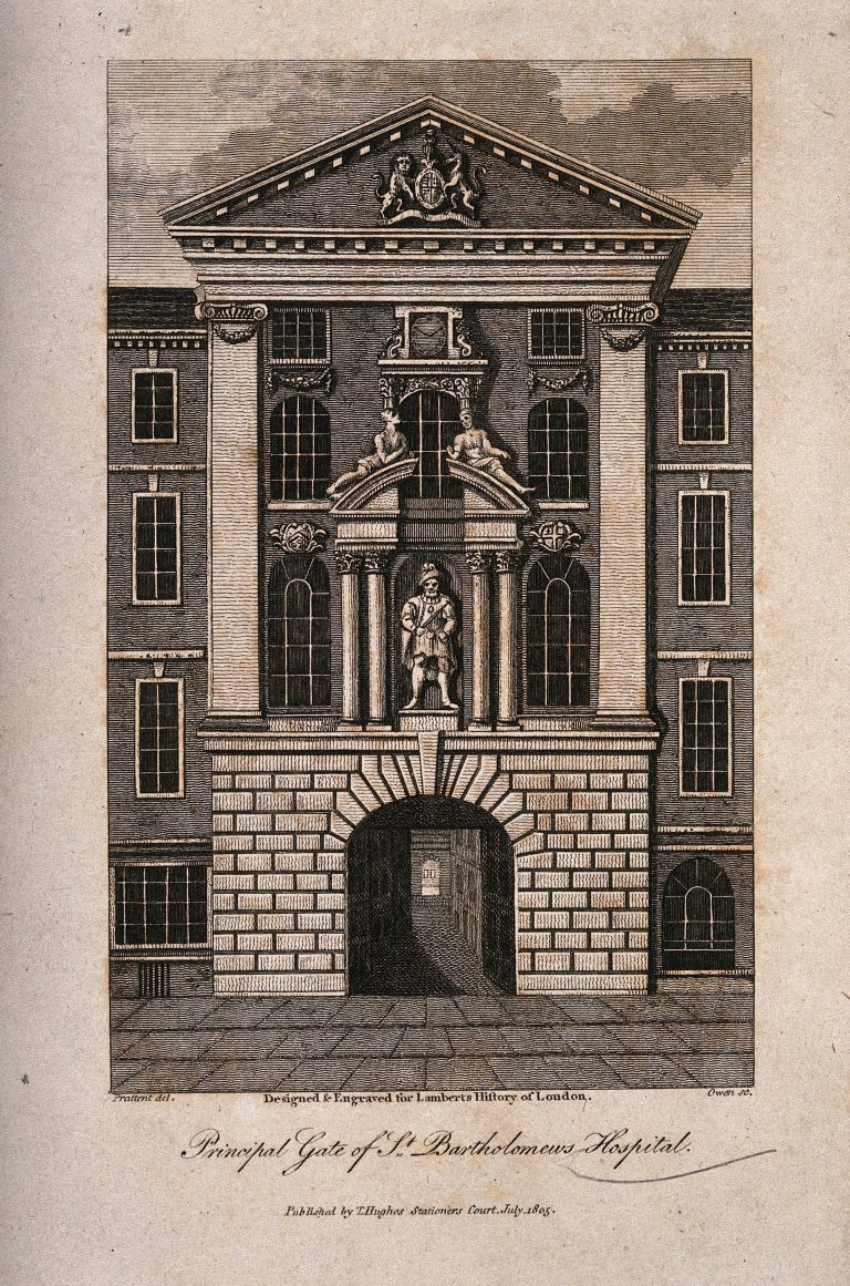 Henry VIII Gate illustration for Lamberts History of London 1805 – Wellcome Collection