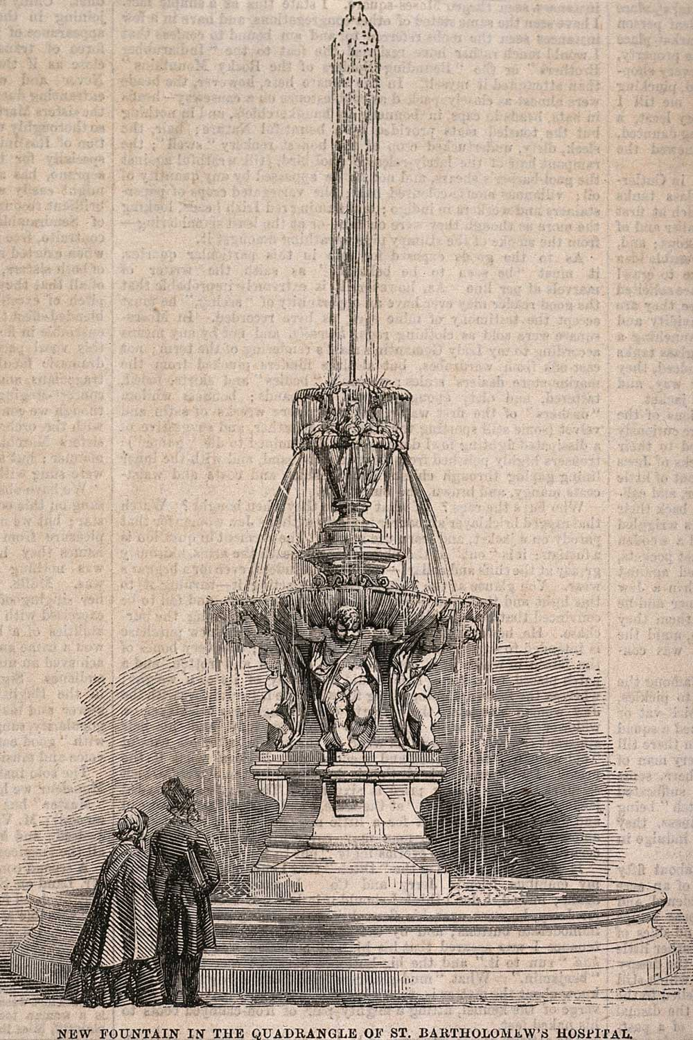 Fountain illustration from the Builder – Wellcome Collection