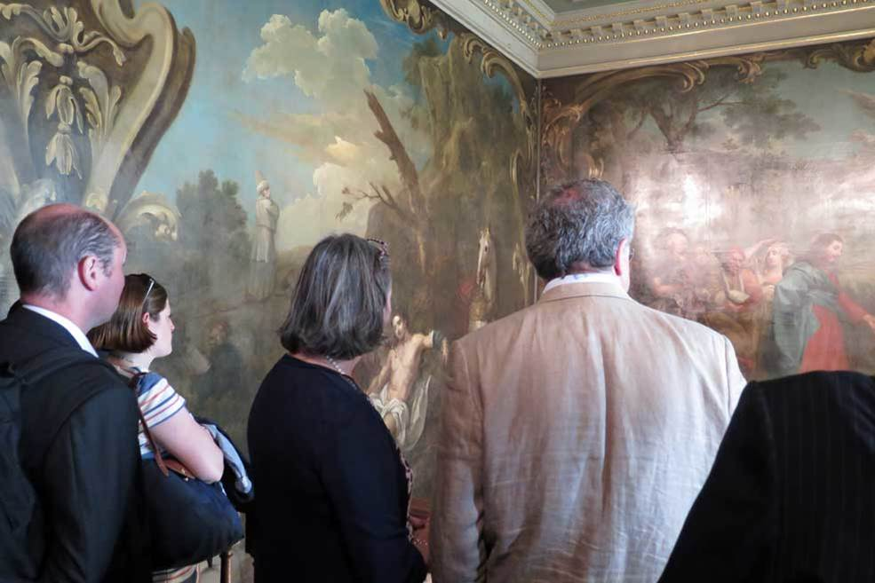 Members of The Worshipful Company of Barbers enjoy a tour taking in the Hogarth Stair