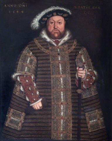 Henry VIII (1491–1547), Hans Holbein the younger (c.1497–1543) (after). Image courtesy of Barts Health NHS Trust Archives & Museums.